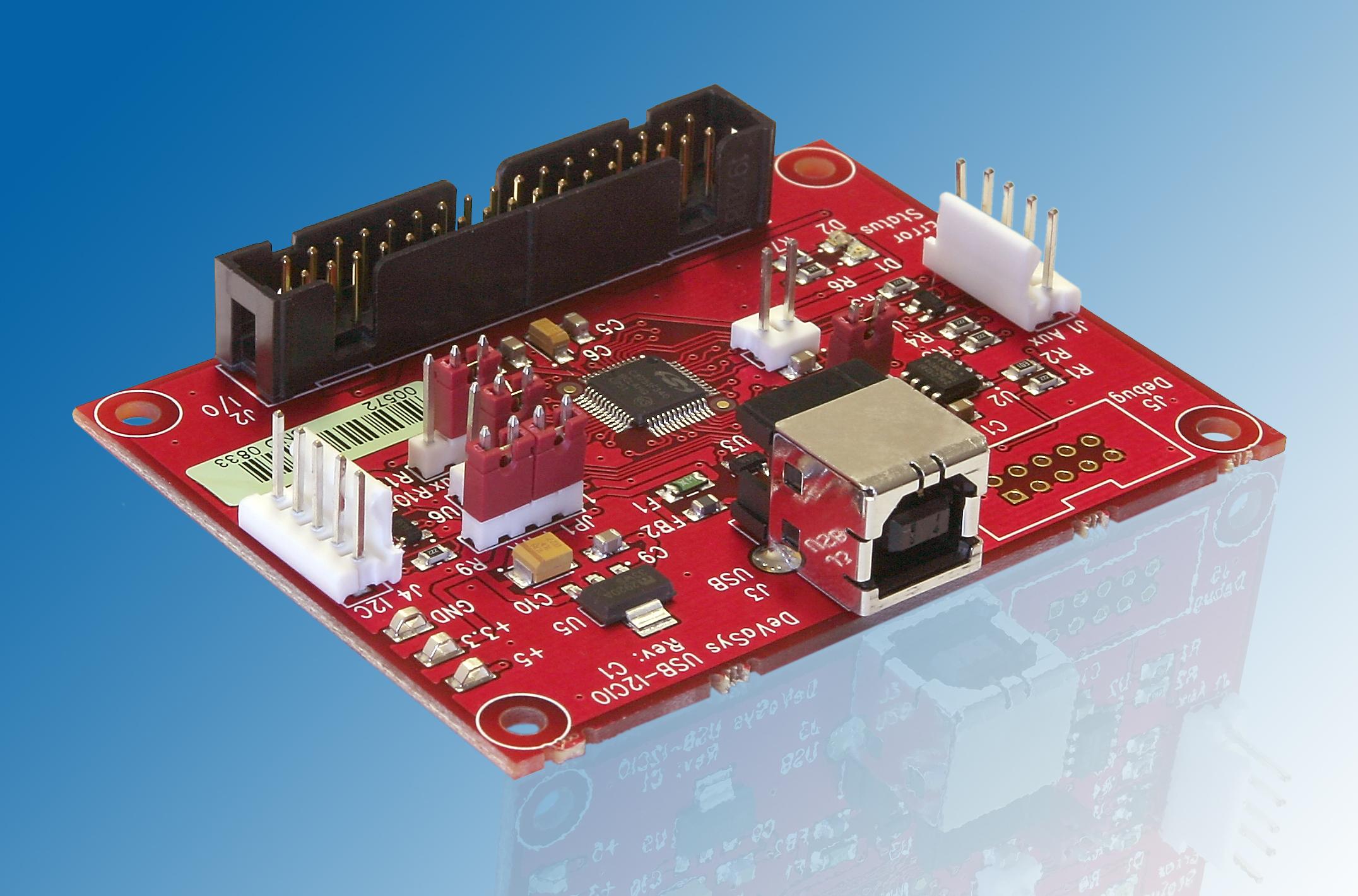 Usb I2c Io Rev C1 Interface Schematic Photo Of Board
